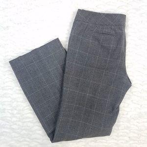 Ann Taylor Gray Plaid Dress Pants